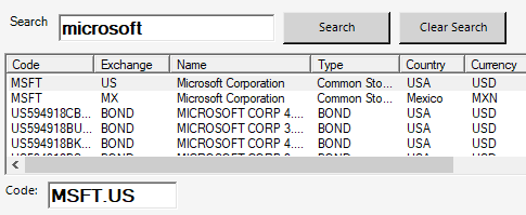 Excel Price Feed Enter EOD Historic Data API Key