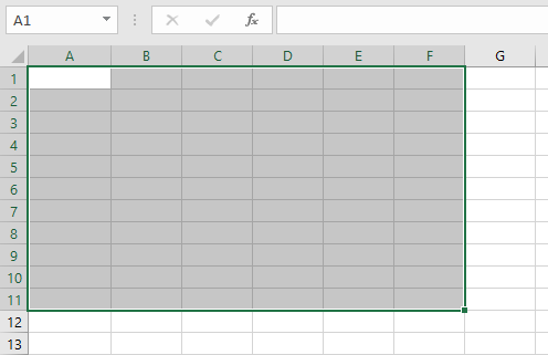 Excel array formula range selection